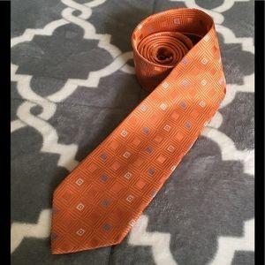 Michael Kors Tie Men's orange 💯 Silk squares